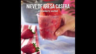 Homemade Strawberry Sorbet