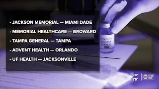 Florida to get COVID-19 vaccines
