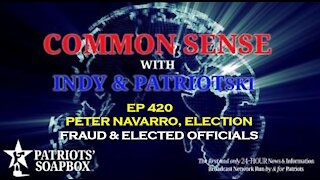 Ep. 420 Peter Navarro, Election Fraud & Elected Officials - The Common Sense Show