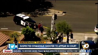 Synagogue shooting suspect to make court appearance