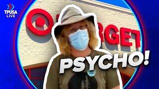 Masked Maniac HARASSES Woman At Target