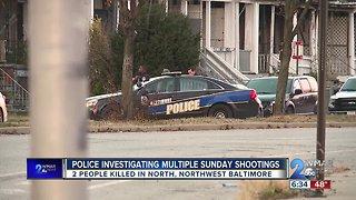 Police Investigate Multiple Sunday Shootings