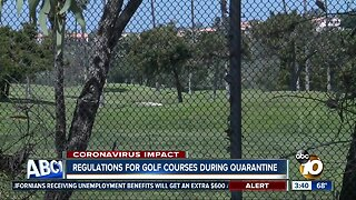Regulations for golf courses during stay at home order