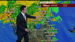 Strong storms moving across South Florida - 2pm update