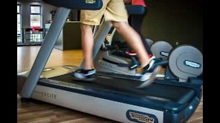 How to simulate a treadmill using dishwashing soap