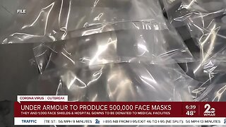 Under Armour to make over 500,000 face masks