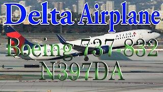 Delta Plane N397DA Boeing 737-832