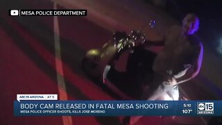 Body camera footage released in fatal Mesa shooting