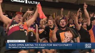 Suns open arena to fans for watch party