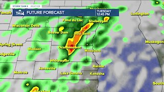 Storms continue into Tuesday