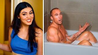 Men should NOT take baths