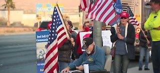 Pro-Trump protesters gather in Las Vegas