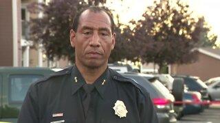 Police provide update after 2 Aurora officers are shot in northeast Denver