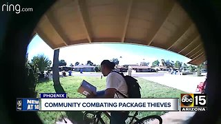 Phoenix neighbors banding together to thwart package thefts