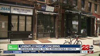 REBOUND: Unemployment concerns as research shows ties to preventable deaths
