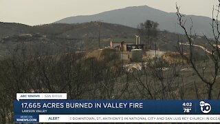 17.665 acres burned in Valley Fire