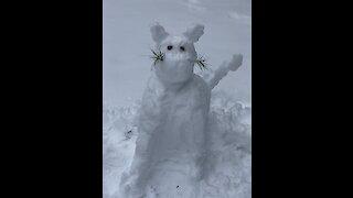Dog destroys snow-cat with extreme prejudice