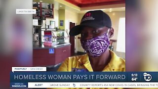 Formerly homeless San Diego woman pays it forward
