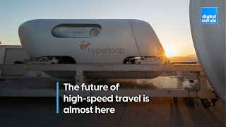 A hyperloop pod just carried its first passengers in test trip