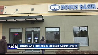 Bogus Basin gets influx of visitors amid snowy weather