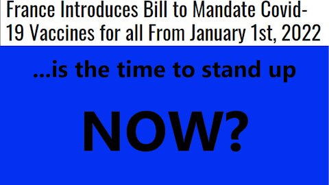 ...is the time to stand up NOW?