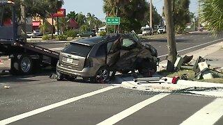 Serious crash blocked northbound lanes of Del Prado Tuesday
