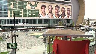 Pre-game activites for Milwaukee Bucks fans