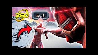 360° Colossal Titan FIGHT! Attack On Titan Season 4 Fanimation #Shorts