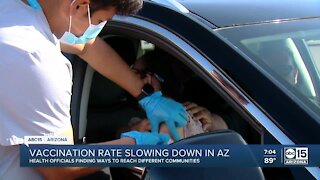 Vaccination rate slowing down in Arizona