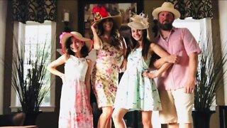 Aurora family turns boring quarantine dinner time into epic dress up dinner time