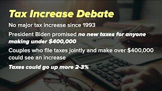 Tax increase debate