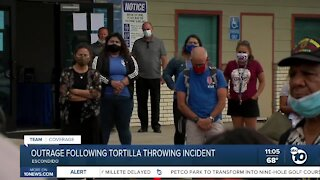 Outrage following tortilla throwing incident