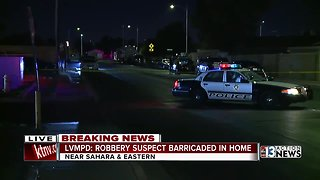 Police working barricade situation in east Las Vegas