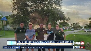 Lee County deputies play basketball with kids after complaints