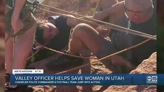 Valley officer helps save woman in Utah