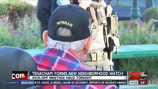 Tehachapi resident band together for new neighborhood watch