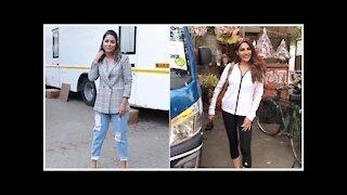 Hina Khan & Nikki Tamboli Snapped Across Town