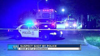 Suspect shot by police near 21st & Concordia