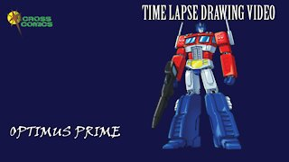 Time Lapse drawing of Optimus Prime from Transformers