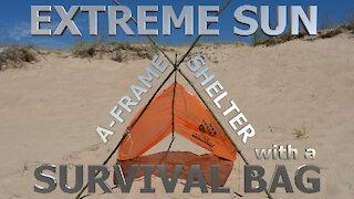 Extreme Heat & Sun A-Frame Shelter