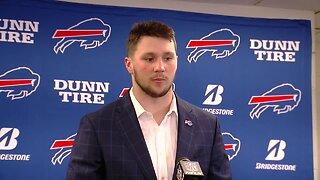 Josh Allen speaks to media after Bills win over Steelers