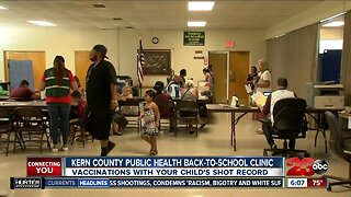 Back-to-school vaccine clinic at Kern County Public Health