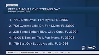 Free Haircuts on Veterans Day