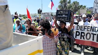 SOUTH AFRICA - Cape Town - SJC Protest Performing Art (Video) (MuX)
