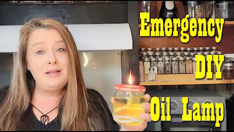 Emergency D.I.Y. Oil Lamp ~ Preparedness