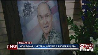 WWII veteran getting a proper funeral