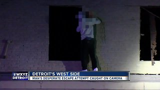 Man tries to escape after police chase ends in crash on Detroit's west side