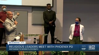 Religious leaders meet with Phoenix PD over George Floyd's death