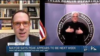 Mayor Bynum Says COVID-19 Could Peak By Next Week