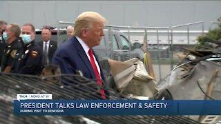 President Trump visits Kenosha, calls violence 'domestic terrorism'